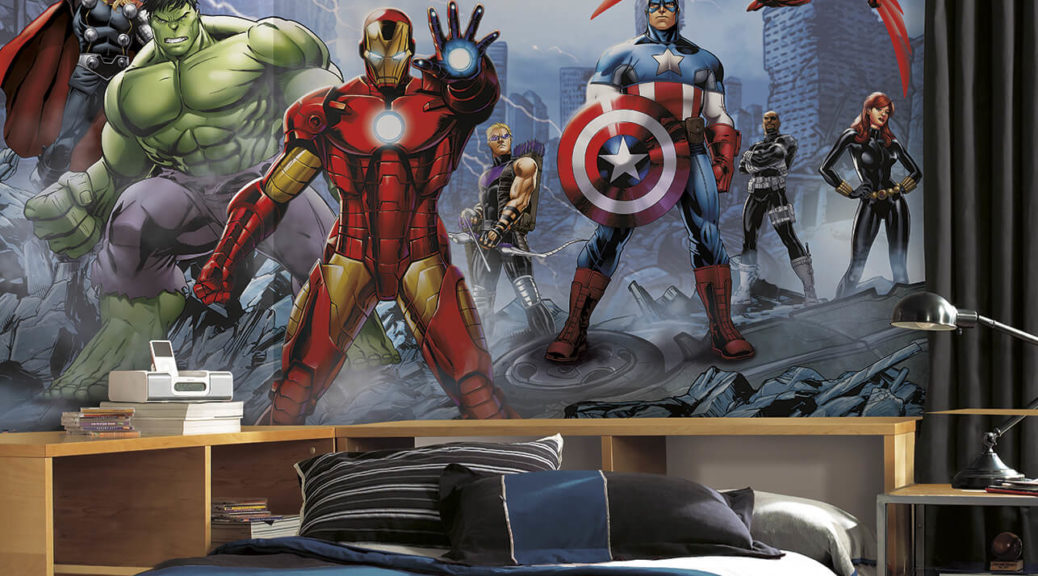 deco chambre avengers beautiful sticker hulk avengers. Black Bedroom Furniture Sets. Home Design Ideas